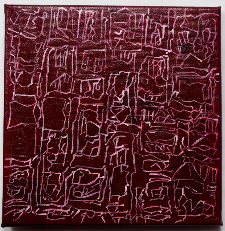 City 3, acrylic on canvas 20x20cm, 2020