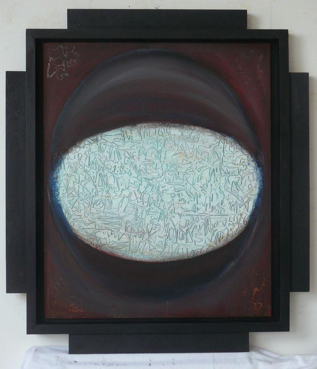 Dark City acrylic on wood 76x67cm