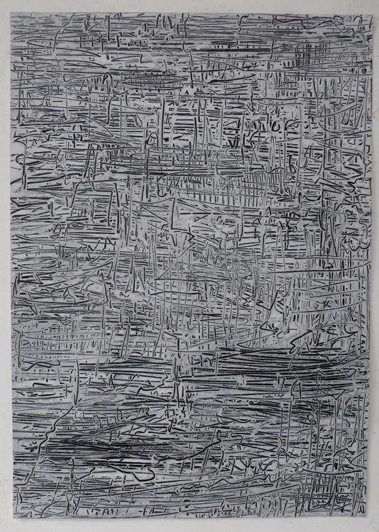 City 3, acrylic on paper, 70x50cm 2020