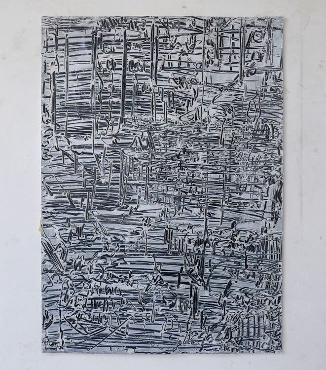 City, acrylic on paper 70x50cm 2020