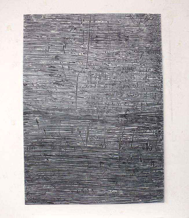 City, acrylic on paper 76x56cm, 2020