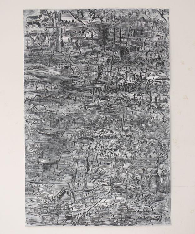 City composition acrylic on  paper 120x80cm 2020