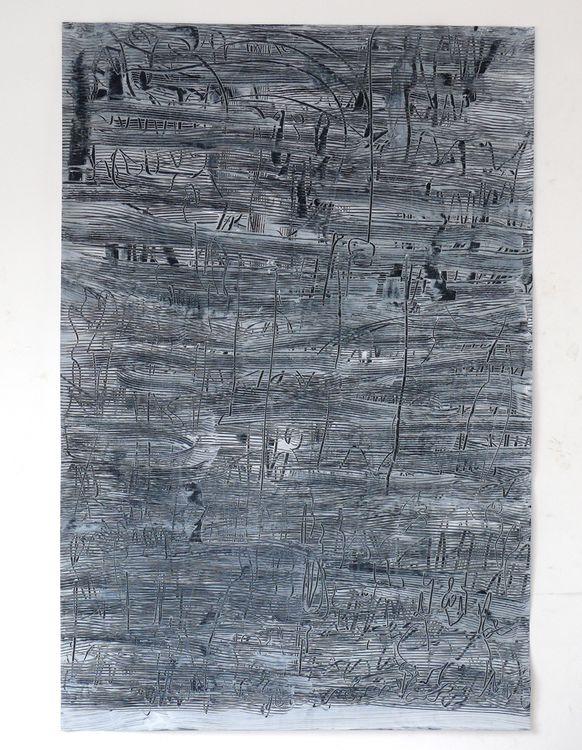 City Lines 120x80cm acrylic on paper 2020