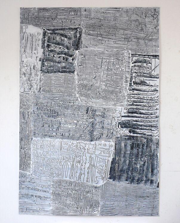 City Composition 2020, acrylic on paper 120x80cm
