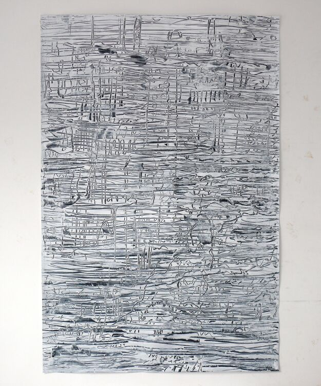 composition, acrylic on paper 2020