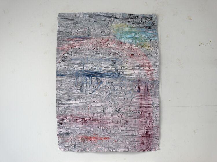 Mobile City 9, acrylic on paper 76x56cm 2020