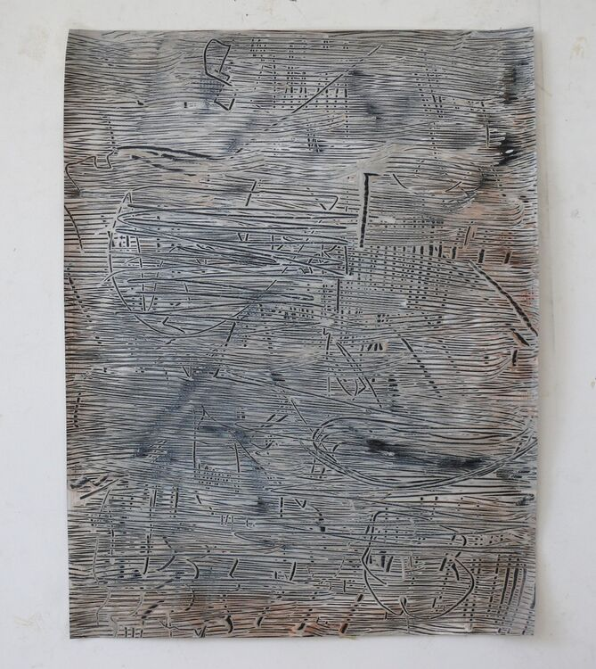 City Lines 2020, acrylic on paper 65x50cm