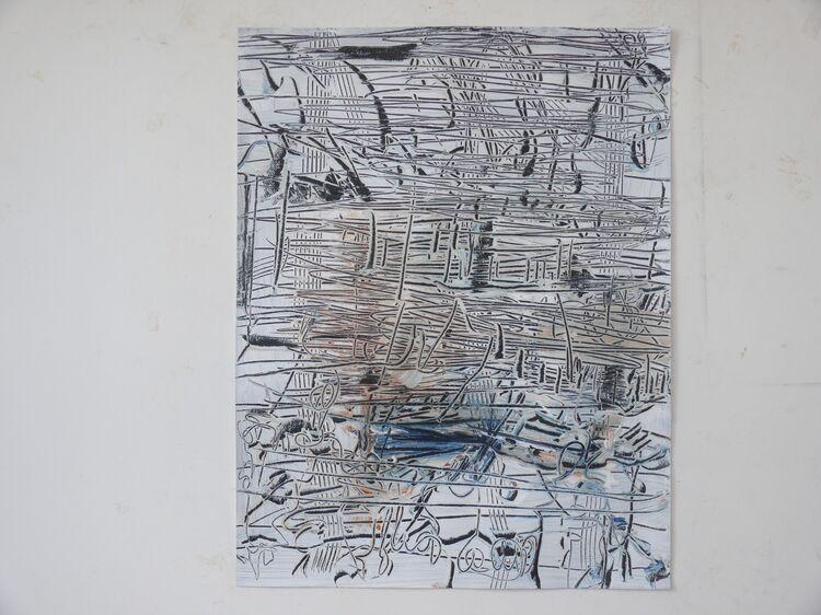 City Lines acrylic on paper 65x50cm