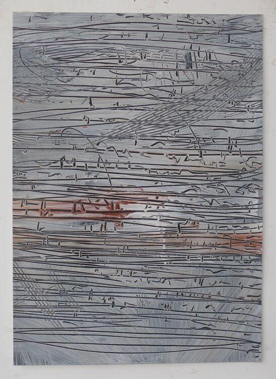 Lisbon drawing 2 70x50cm acrylic on paper
