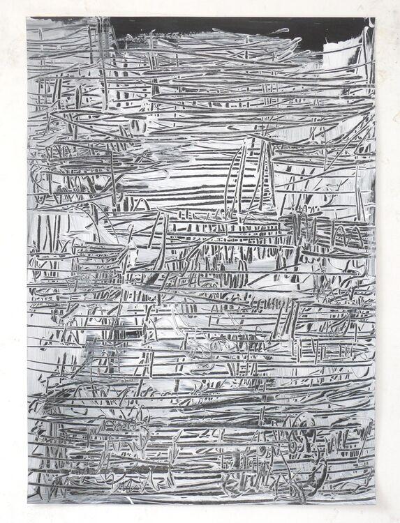 City, acrylic on paper 70x50cm