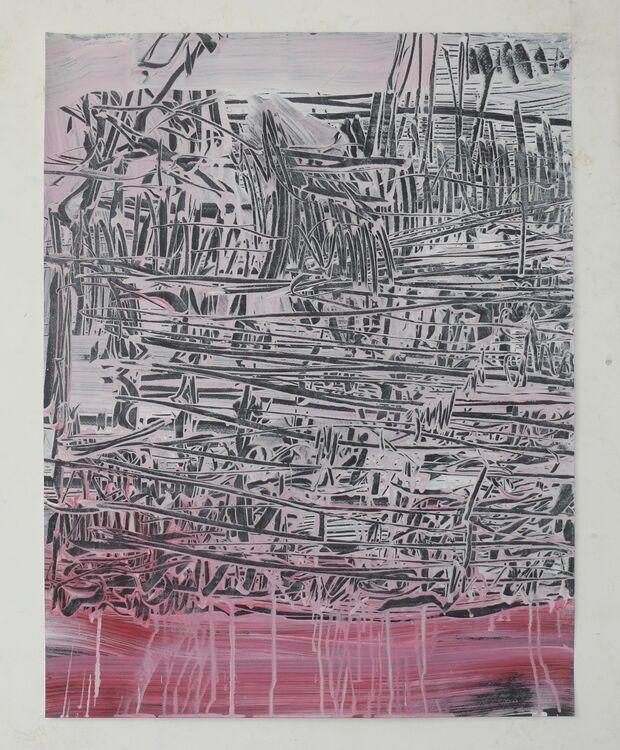 City Lines, acrylic on paper 202065x50cm
