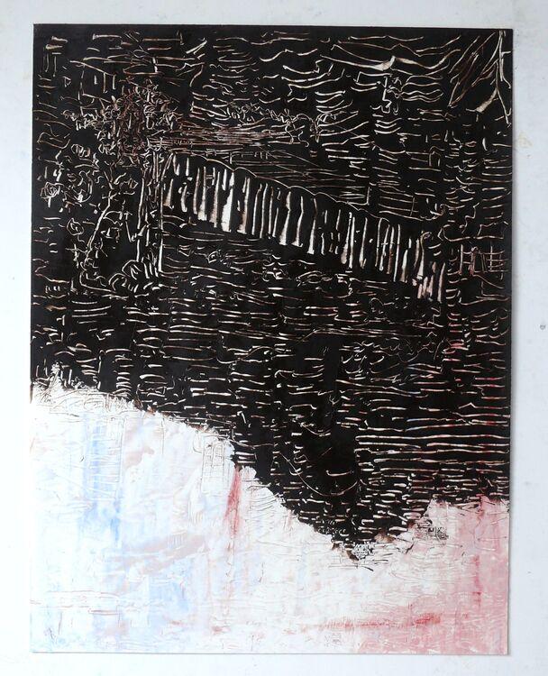 City 4, 65x50cm oil on paper 2019