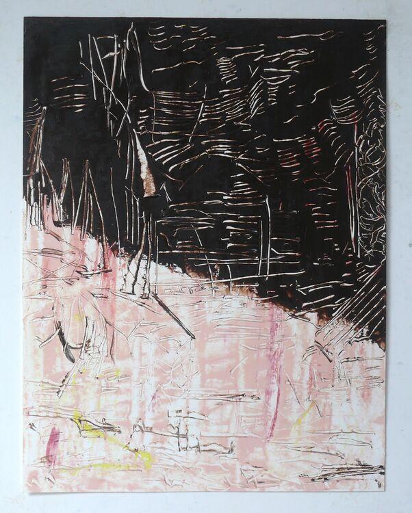 City 3, 65x50cm oil on paper 2019
