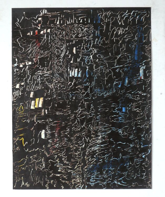 City,65x50cm oil on paper 2019