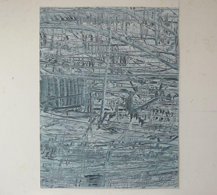 City Lines 65x50cm oil on paper