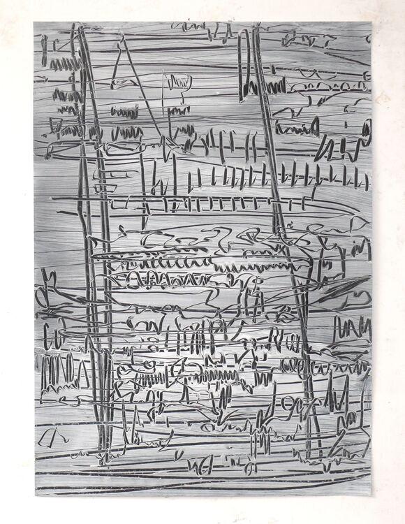 City Lines 16-9-20, acrylic on paper 70x50cm