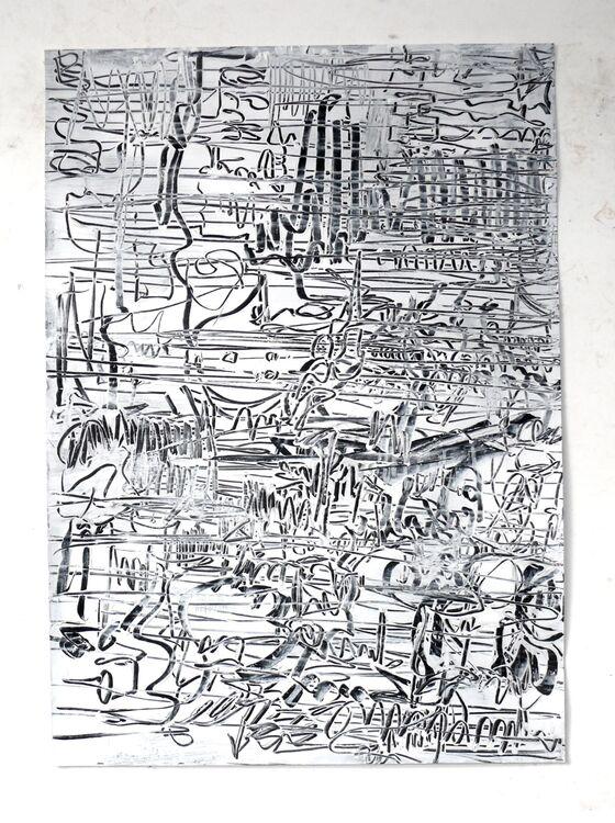 City, 70x50cm acrylic on paper