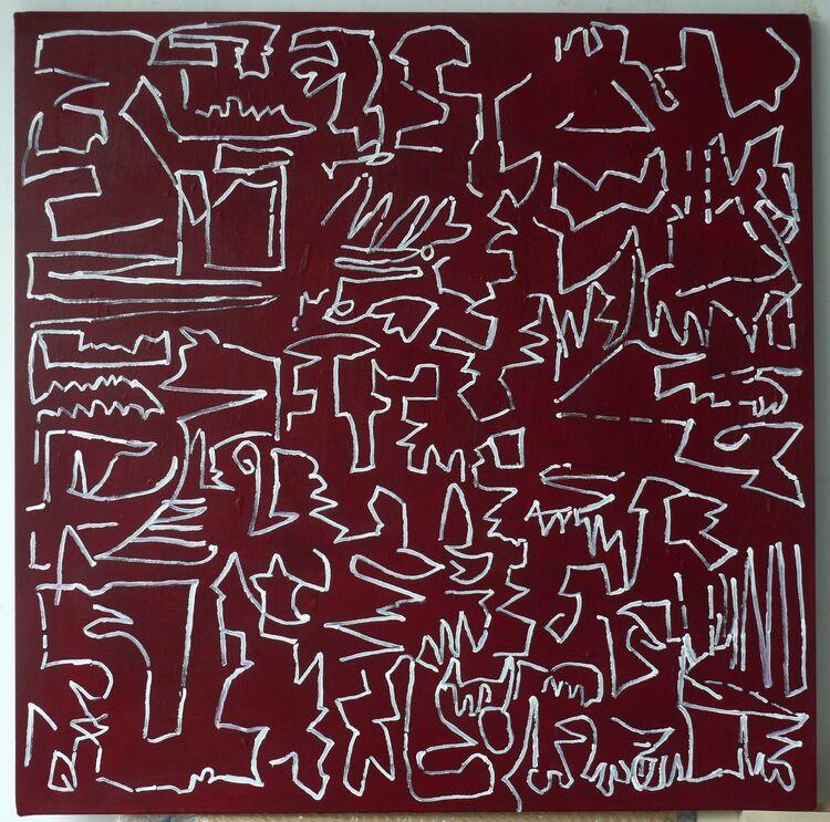 76x76cm,  acrylic on canvas 2020