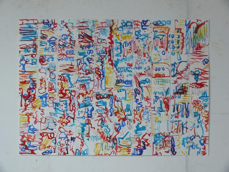 city watercolour 50x70cm