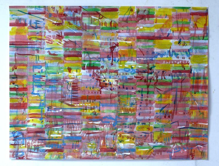 City, watercolour o paper 50x65cm 2021