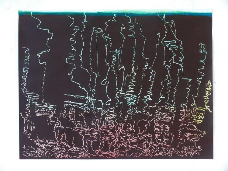 Underground Landscape 50x65cm acrylic on paper 2021