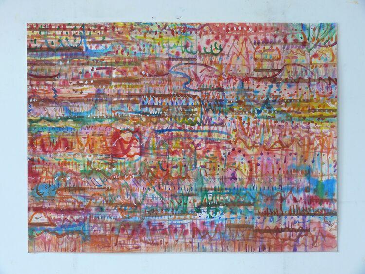 11 part rhythm 56x76cm watercolour on paper 2021