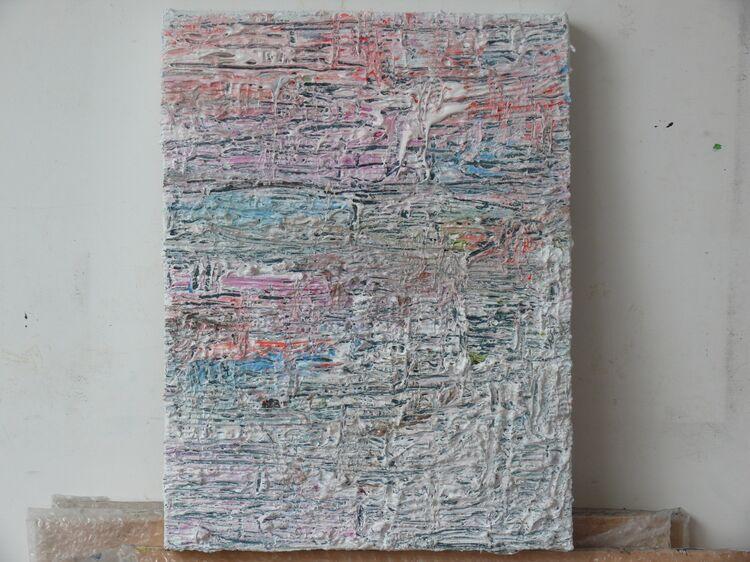 acrylic on pper on canvas 40x30cm 2021