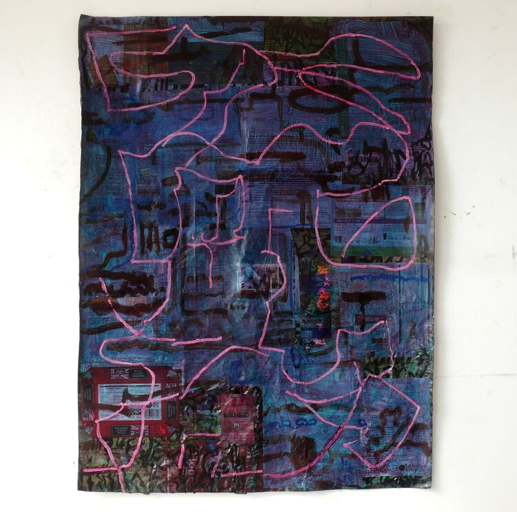 110x80cm  acrylic on paper layers