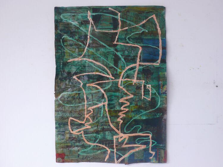 100x70cm acrylic on paper