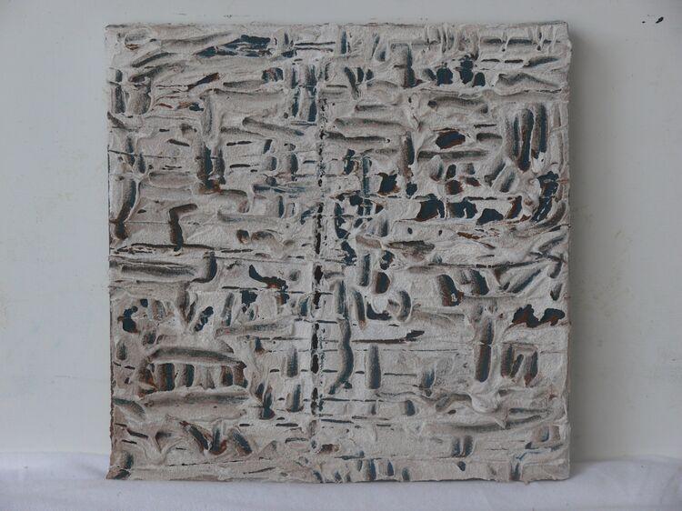 acrylic and sand on canvas 30x30cm 2021