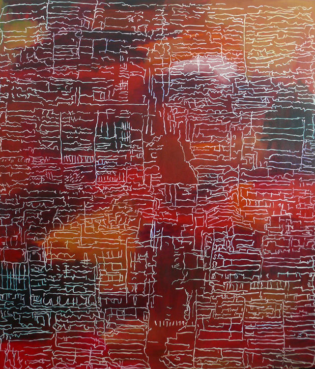 Transient City oil on canvas 150x130cm 2016