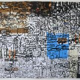 city on packaging with collage 75x99cm