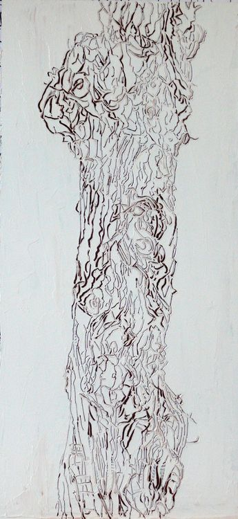 street tree 2019 oil on panel 60x35cm