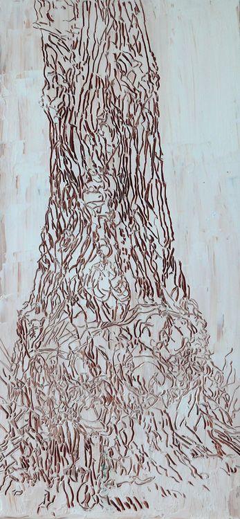 street tree 2019 oil  on board 60x35cm