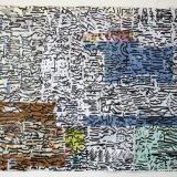 the city on packaging 99x75cm ink on packaging paper