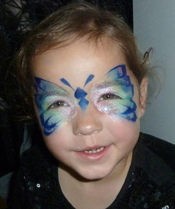 butterfly face art