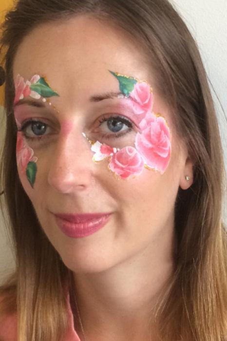 floral face paint 2