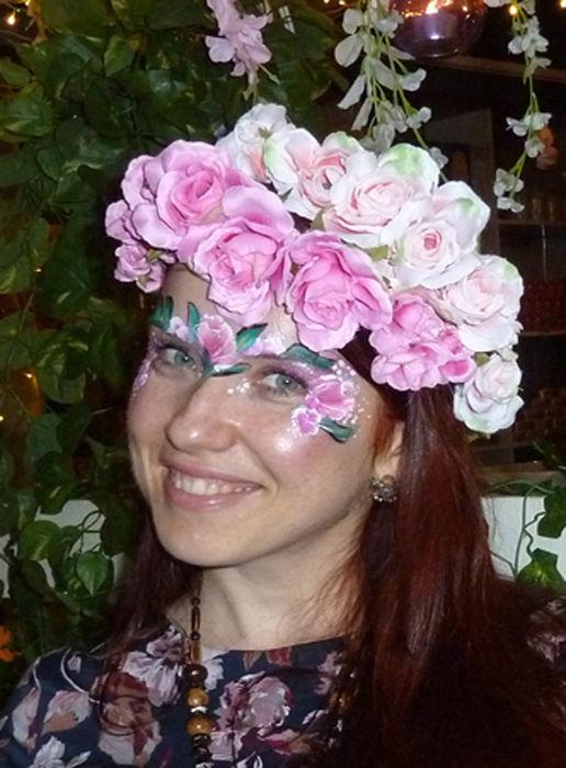 floral face paint 3