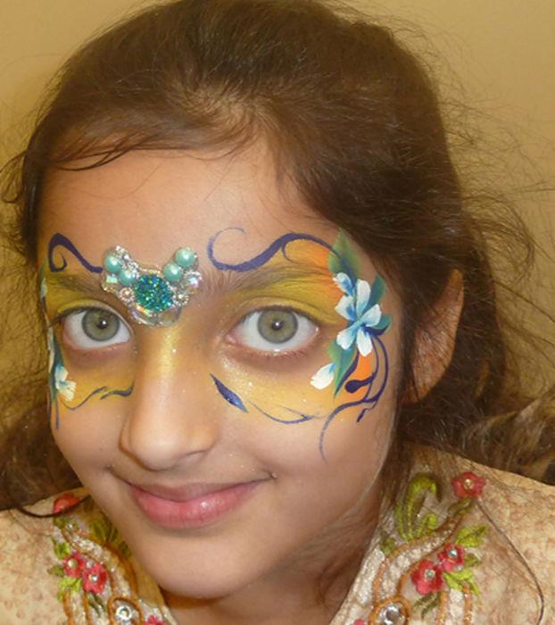 floral mask face art