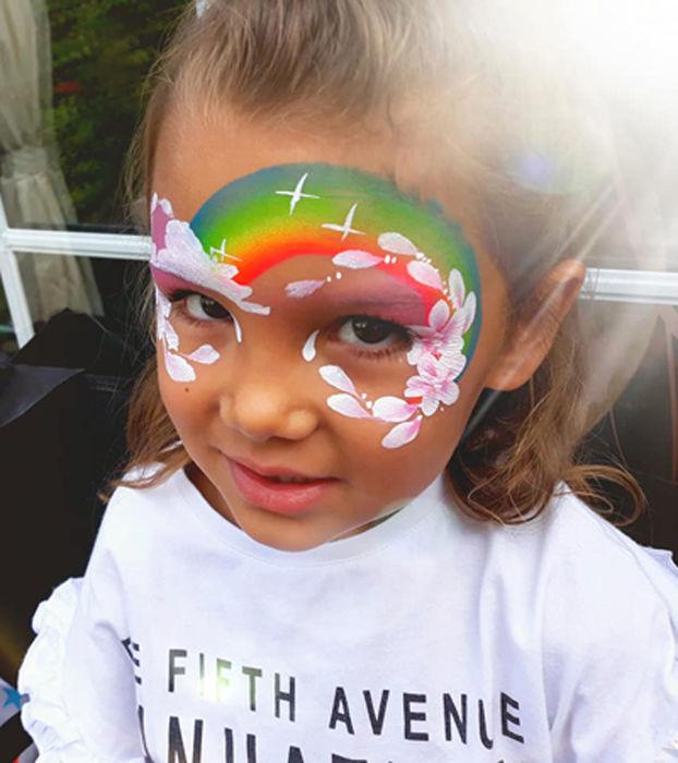 rainbow cloud face art 2