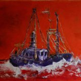 Red trawler.