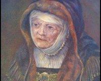 Rembrandt's Mother - After Rembrandt
