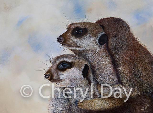 Group Hug [original acrylic painting]