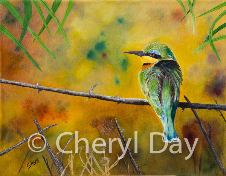 Original Oil Little Bee Eater