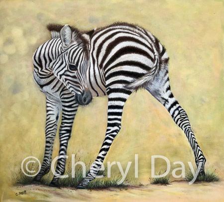 "Original pastel painting ""Legs akimbo"""