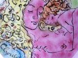 """Mother & Child ( after Klimt) 9"""" diameter"""