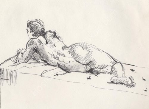 Reclining nude-Female.