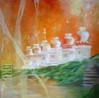 Mary Walker Stupa series 1 oil on canvas