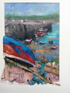 Ann Roach Colour  of  Cemaes  Bay mixed media