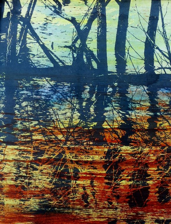 Gill Ellison Reflections  Screen Print